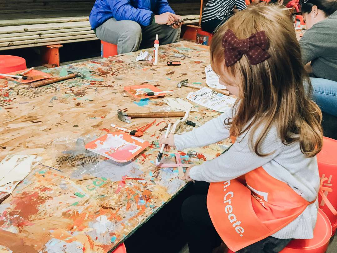 Blaire at Home Depot Children's Workshop