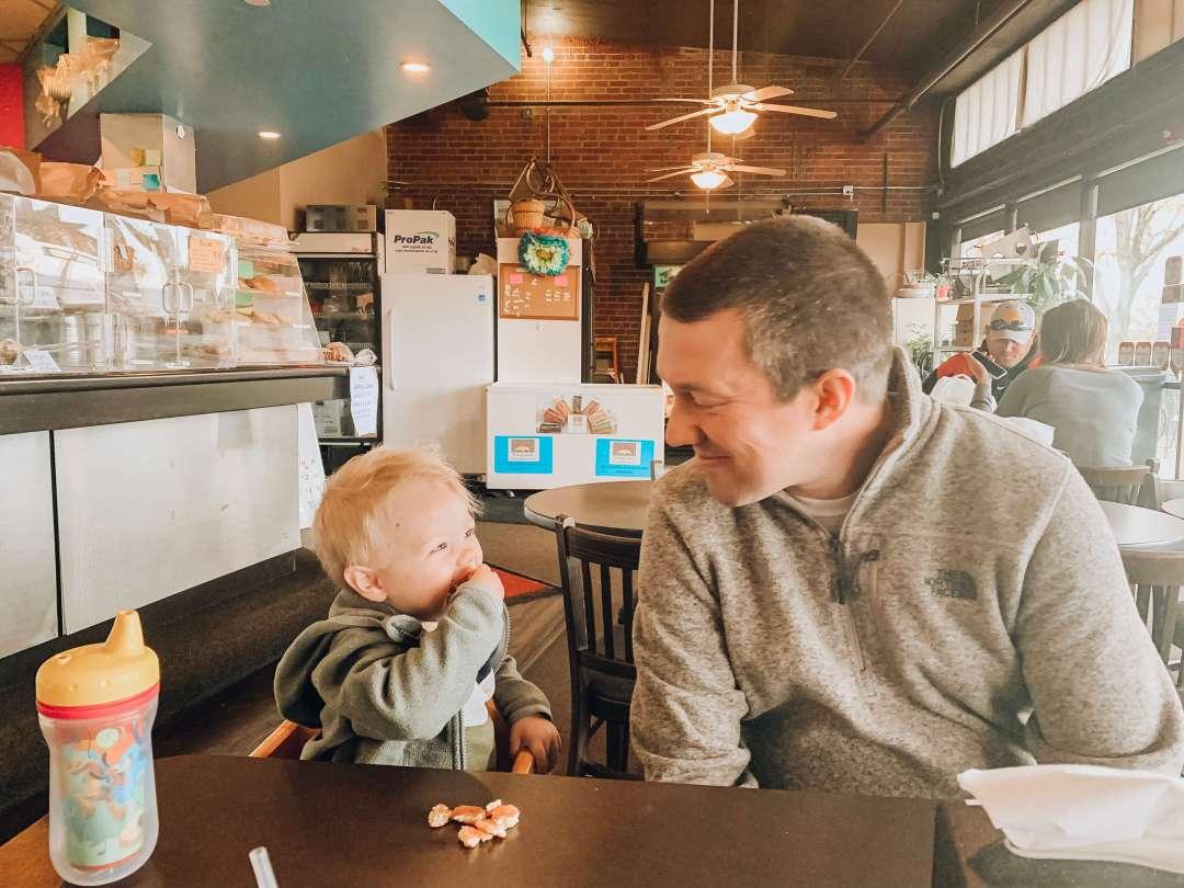 Jason and Ben at Breakfast