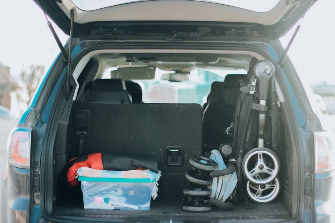 Trunk Space 2016 GMC Acadia for a family of 4