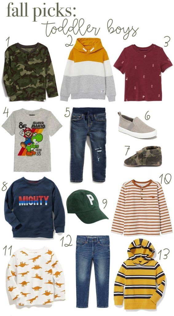 favorite fall clothing for toddler boys