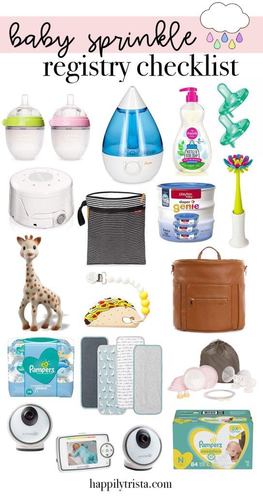 free baby sprinkle registry checklist