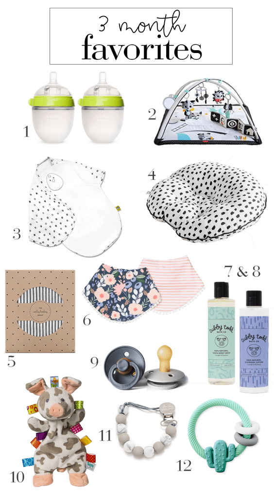 must haves for 3 month old baby