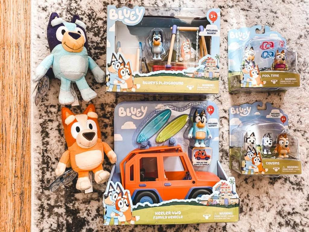 NEW bluey toys available in the US