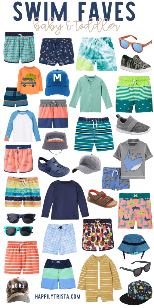 cute baby and toddler swim suits for boys