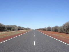 Sur la route direction Alice Springs