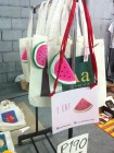 Watermelon + Canvas Bags