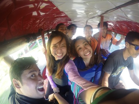 On our way back at a 8-seater tricycle!