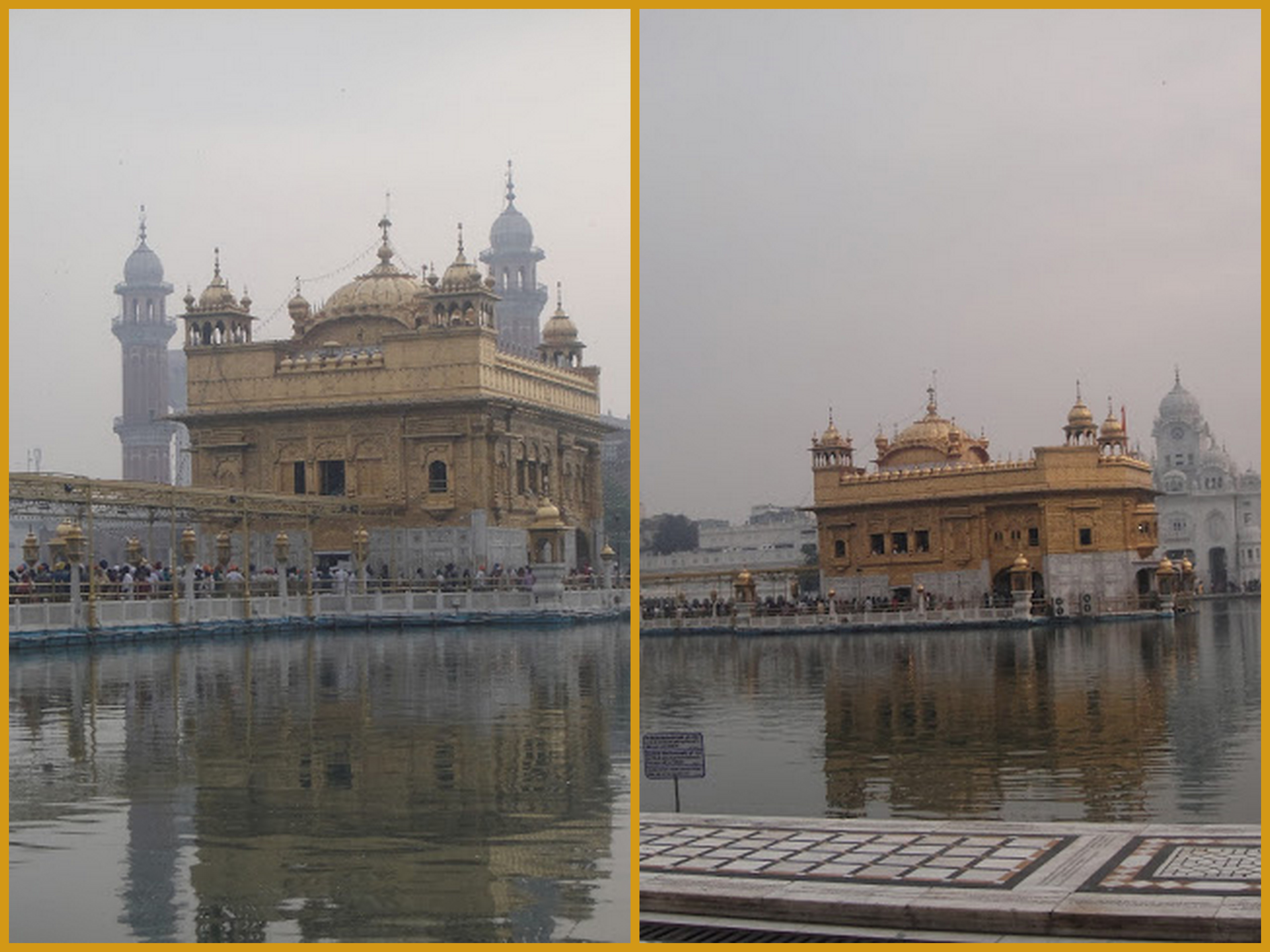 Harminder Sahib, popularly known as The Golden Temple.