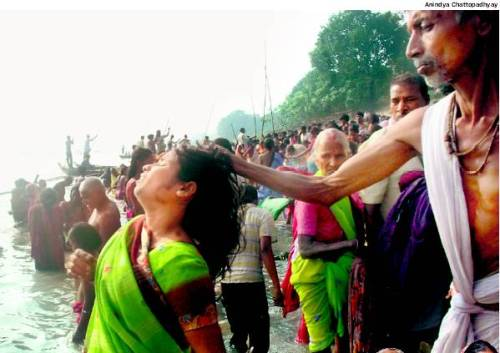 File photo of Sonepur mela of Bihar, where the woman was termed a witch and the 'ojha' (witch doctor) was trying to remove the curse. Picture Credits : Times Of India