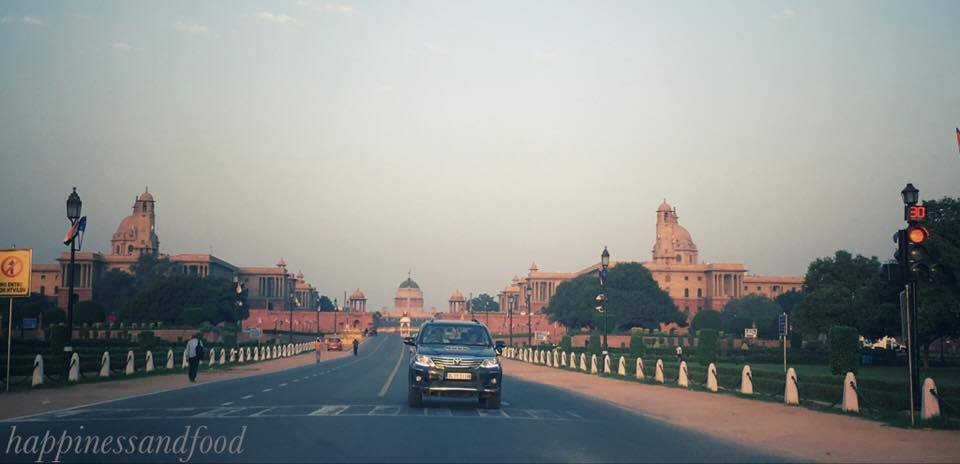 The way to Rashtrapati Bhavan