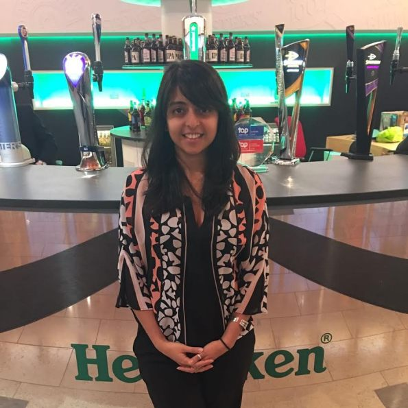 Andria at Heineken UK HQ.