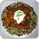 Sweet chicken curry