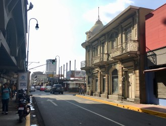 Downtown backstreet, San Jose, Costa Rica.
