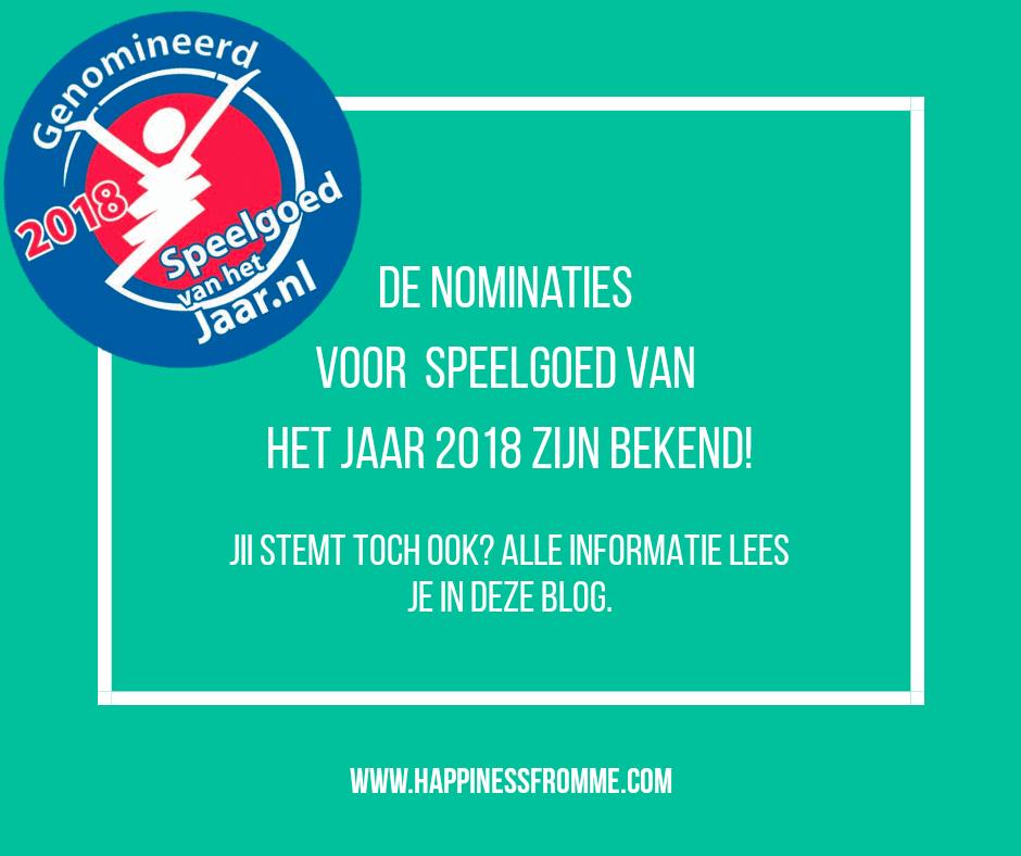 Speelgoed van het jaar 2018; de nominaties!