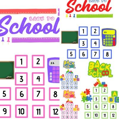Back to school - Aftelkalender