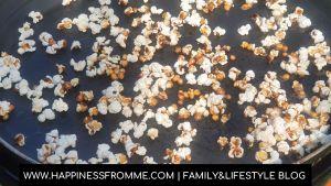 popcorn op de skottelbraai