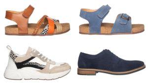 Zomerse schoenen van leer! Voor het hele gezin.
