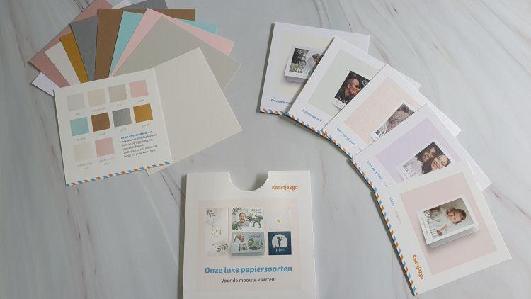 Geboortekaartje ontwerpen - papiersoorten