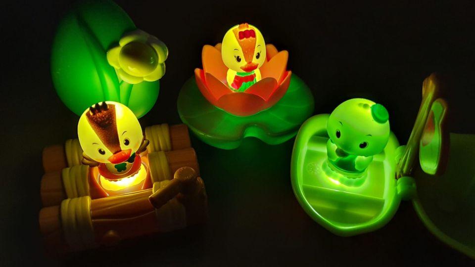 Lichtgevende minisets van Klorofil, licht in het donker!