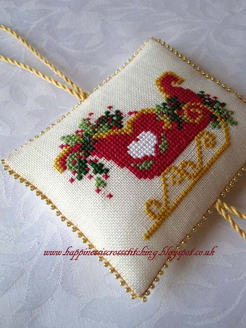 Christmas sleigh cross stitch