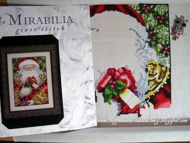 counted cross stitch pattern of santa