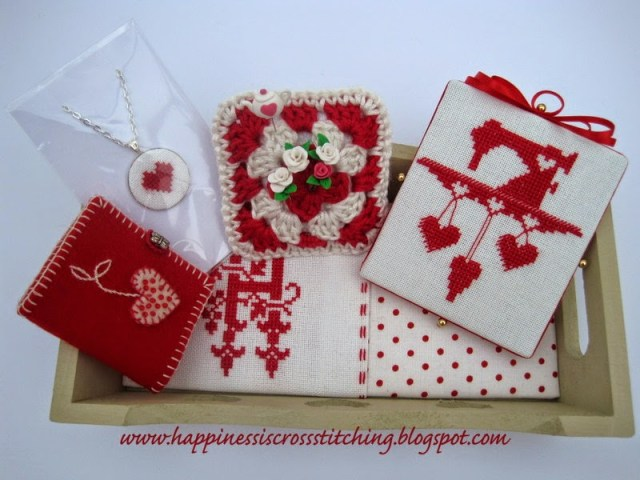 Cross stitch exchange by Lynn B