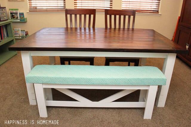 DIY Farmhouse Table & Bench