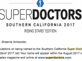Dr. Ambardar named by Los Angeles Magazine as a 2017 Super Doctor Rising Star