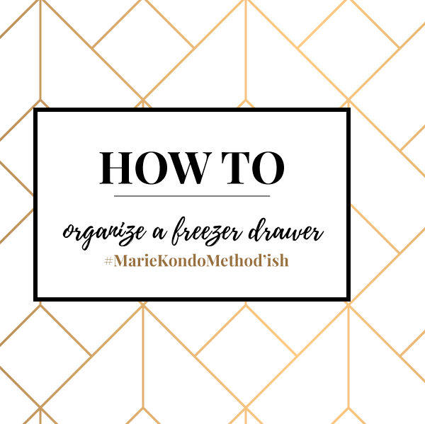 How to organize a drawer freezer