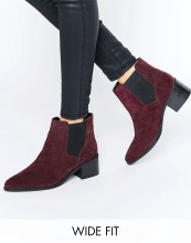 ASOS Wide fit Suede Boots