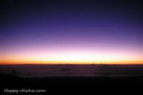 マウナケア山頂からの日ノ出
