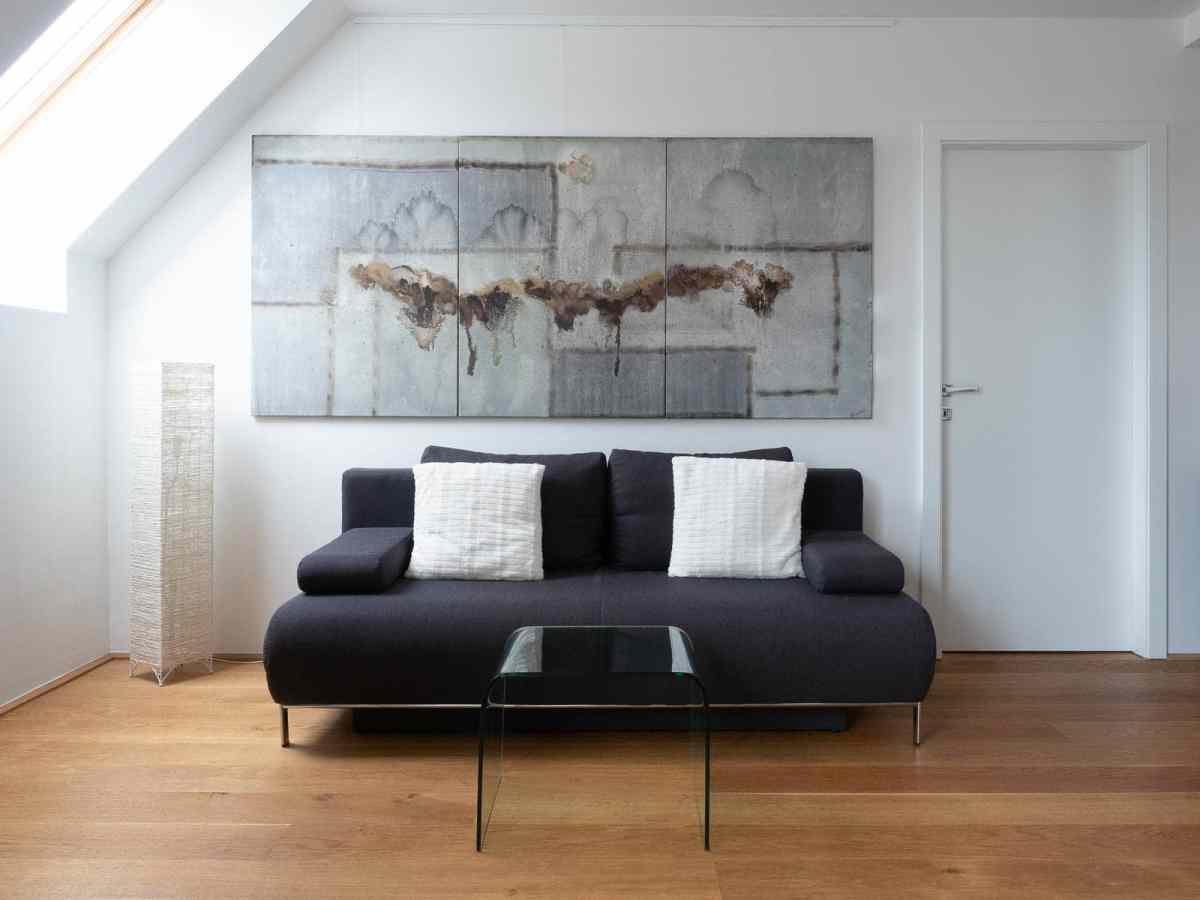 Acrylbild 'Grey' – 240 x 110 cm dreiteilig