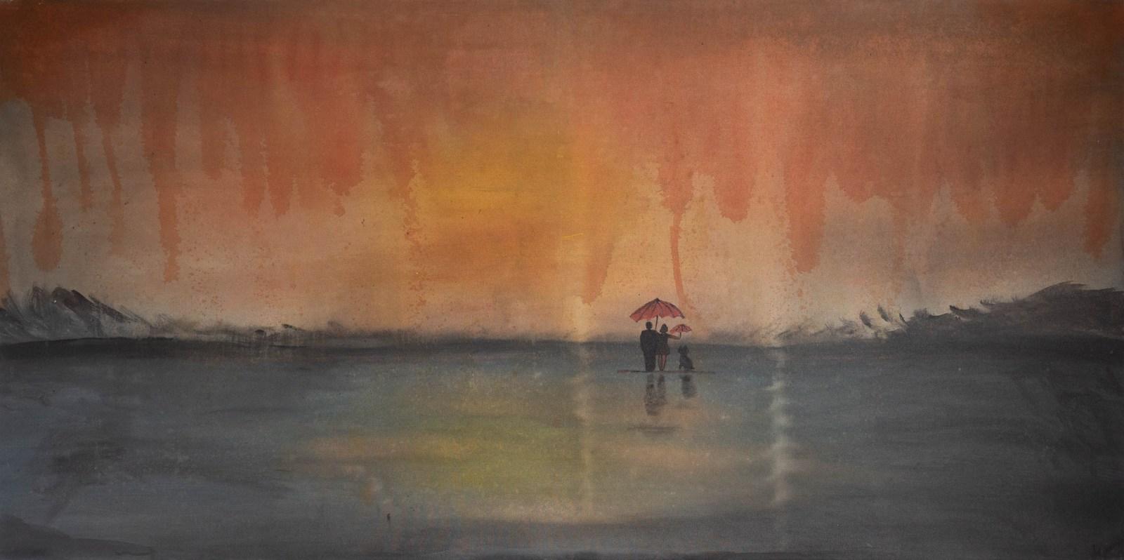 Acrylbild ' On The Beach' – 180 x 90 cm