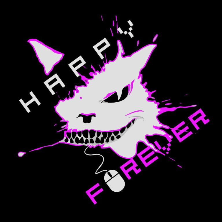 Happy_Forever_logos_black_purple_3
