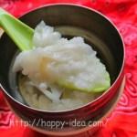 スープジャーでおかゆの作り方中華粥味付けあり米とお湯の量とカロリー糖質は?