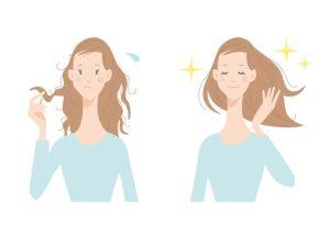 髪の毛を清潔にする