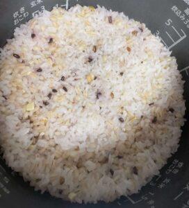 三十九雑穀米の炊き上がりを口コミ