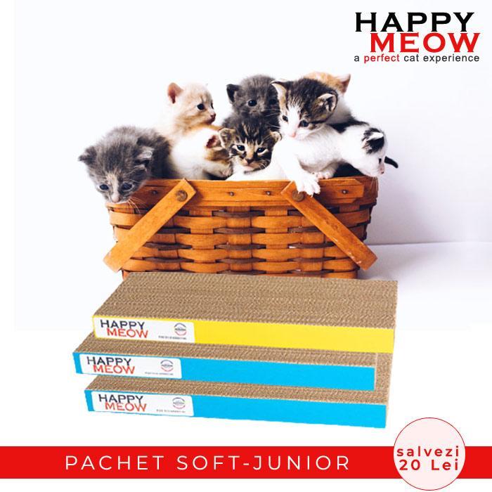 Pachet promotional Happy Meow Soft Junior