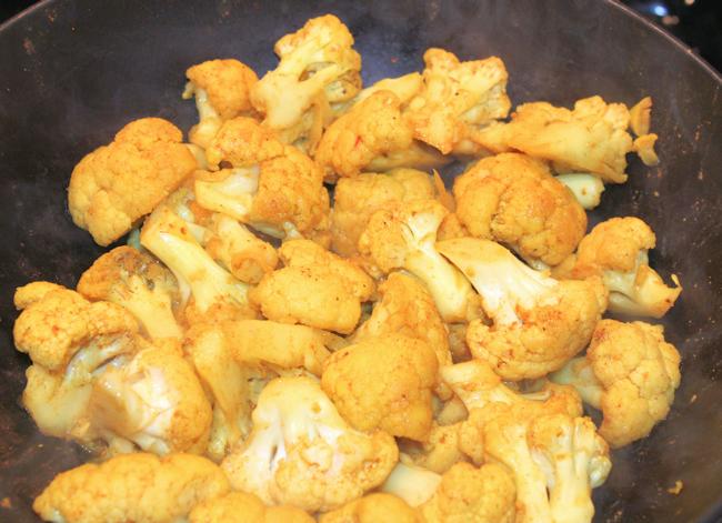 Stir Fried Cauliflower