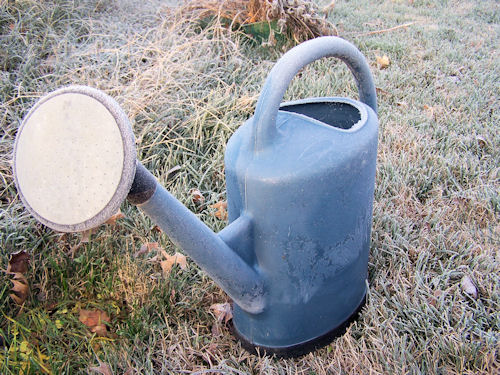 empty watering can