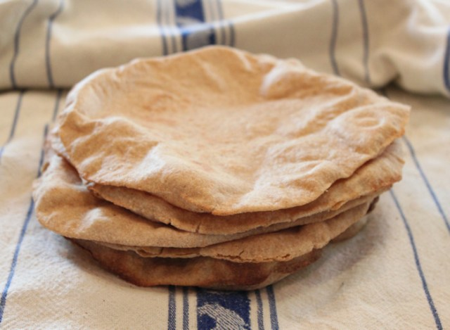 Whole Wheat Sourdough Pita Bread