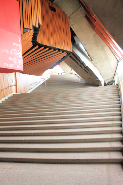 stairway to upper level in Opera House