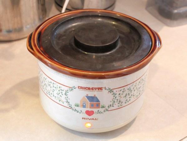 infusing coffee oil in crock pot