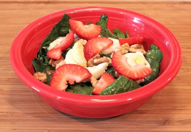 wilted spinach salad with strawberries