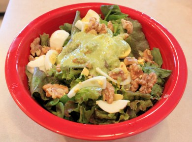 salad with lettuce and purslane