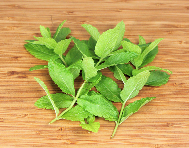mint for infusing simple syrup