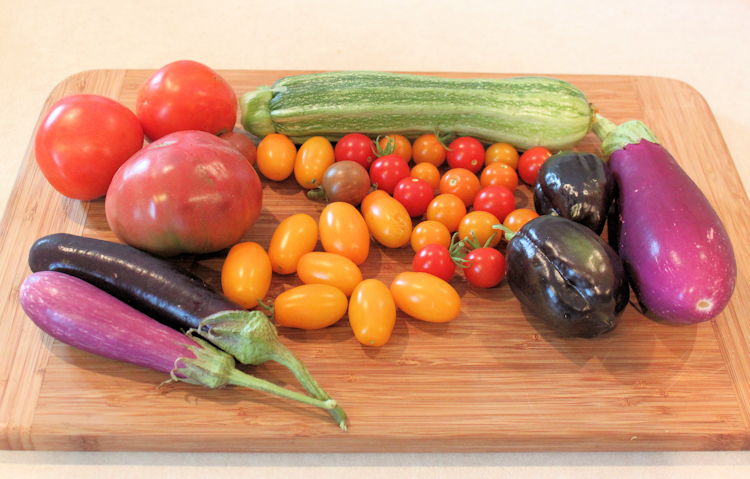 July harvest from the garden