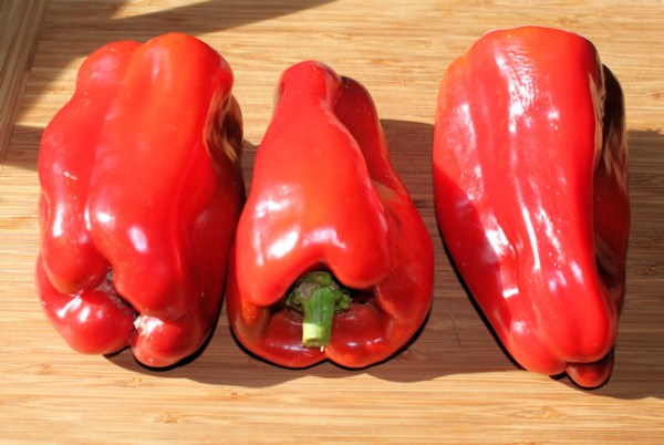 ripe Big Bertha bell peppers
