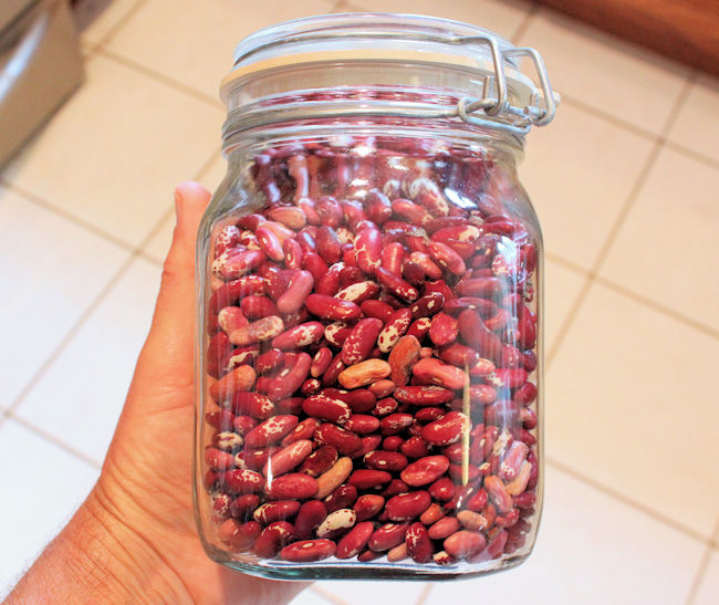 dried Jacob's Cattle beans