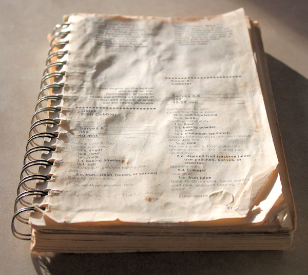 a much-used cookbook